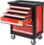 DOSTAWA GRATIS! 65669920 Wózek, szafka serwisowa z narzędziami, 6 szuflad, 185 narzędzia (wymiary: 97x77x47 cm)