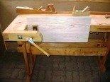DOSTAWA GRATIS! 77156913 Stół stolarski z drewna (wymiary: 750-520x1960x910 mm)