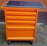 DOSTAWA GRATIS! 77157354 Wózek narzędziowy z blatem, 5 szuflad (wymiary: 1200x600x500 mm)