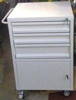 DOSTAWA GRATIS! 77157355 Wózek narzędziowy, 3 szuflady, 1 szafka (wymiary: 1000x600x500 mm)