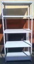 DOSTAWA GRATIS! 77170604 Regał metalowy, 5 półek (wymiary: 2500x900x600 mm, obciążenie półki: 150 kg)