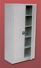 DOSTAWA GRATIS! 77170711 Szafa biurowa, 2 drzwi, 4 półki przestawiane (wymiary: 1800x900x460 mm)