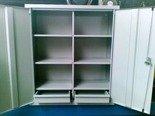 DOSTAWA GRATIS! 77170770 Szafka narzędziowa, 2 szuflady i 6 półek (wymiary: 1000x600x350 mm)
