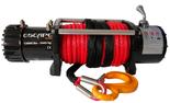 DOSTAWA GRATIS! 81874370 Wyciągarka Escape 12000 lbs 12,0 X [5443kg] z liną syntetyczną czerwoną 24V (średnica liny: 10mm, długość liny: 28m)