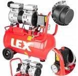 LETA Kompresor bezolejowy sprężarka cichy (ciśnienie robocze: 7 Bar, pojemność zbiornika: 24 litry, moc: 1,1kW) 21777693