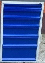 Szafka do stołu warsztatowego, 6 szuflad (wymiary: 665x580x600 mm) 77157002