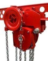 Wciągnik ręczny łańcuchowy przejezdny (udźwig: 10,0 T, wysokość podnoszenia: 3m, zakres toru jeznego: 143-200 mm) 95876760