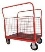 Wózek platformowy burtowy (udźwig: 500 kg, wymiary platformy: 1000x700 mm) 03076057