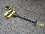 Wózek skrętny 12 rolkowy, rolki: 12x stal (nośność: 16 T) 12235607