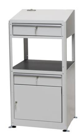 Pulpit warsztatowy na stopkach z szafką i szufladą (wymiary: 597x1225x527 mm) 00877013