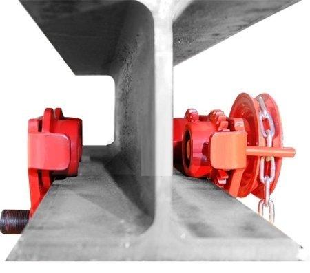 Wózek ręczny jezdny z łańcuszkiem i napędem (udźwig: 2,0 T, szerokość belki jezdnej: 66-203 mm, wysokość łańcucha manewrowego: 3m) 03076121