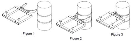 Chwytak do beczek, pojedynczy (udźwig: 470 kg, 210L) 3104590