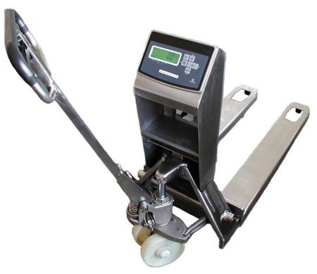 DOSTAWA GRATIS! 04072263 Wózek paletowy z wagą bez legalizacji INOX (udźwig: 2000 kg, działka: 500 g)