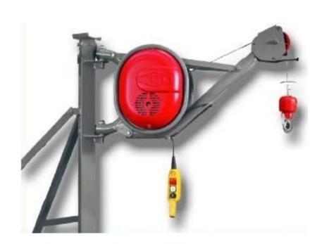 DOSTAWA GRATIS! 08172272 Wciągarka elektryczna linowa budowlana + Wysoki maszt + sterowanie 15m (udźwig: 325 kg)