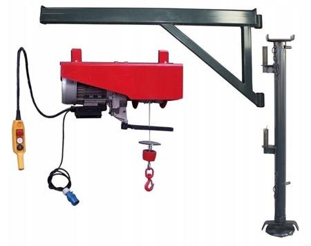 DOSTAWA GRATIS! 08172277 Wciągarka elektryczna linowa budowlana + Niski maszt + Ramie robocze + lina 30m + sterowanie ręczne 1,5m (udźwig: 300 kg)