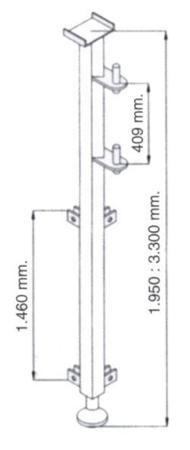 DOSTAWA GRATIS! 08172282 Wciągarka elektryczna linowa budowlana Minor P-200 + Podpory + Wysoki maszt + Ramie robocze (udźwig: 200 kg)