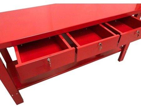 DOSTAWA GRATIS! 16070002 Stół warsztatowy, serwisowy, 3 szuflady (wymiary: 2000x640x870mm)