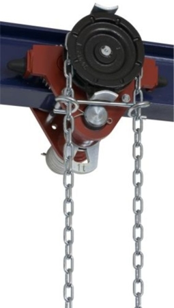 DOSTAWA GRATIS! 22038958 Wózek jedno-belkowy z napędem ręcznym Z420-A/1.0t/5m (wysokość podnoszenia: 5m, szerokość dwuteownika od: 50-113mm, udźwig: 1 T)
