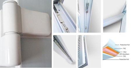 DOSTAWA GRATIS! 26269146 Drzwi zewnętrzne sklepowe (kolor: biały, strona: prawa, szerokość: 160 cm)