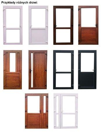DOSTAWA GRATIS! 26269149 Drzwi zewnętrzne sklepowe (kolor: biały, strona: lewa, szerokość: 100 cm)