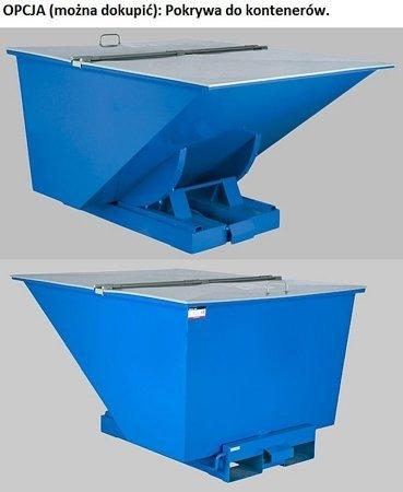 DOSTAWA GRATIS! 35960453 Kontener samowyładowczy do wózka widłowego (pojemność: 1100 L)