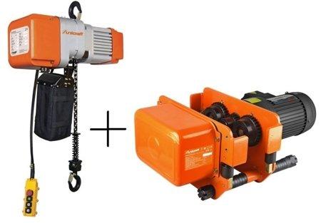 DOSTAWA GRATIS! 44372521 Wciągarka elektryczna + wózek jezdny elektryczny łańcuchowy (udźwig: 2T kg, maks. wys. podnoszenia: 6m)