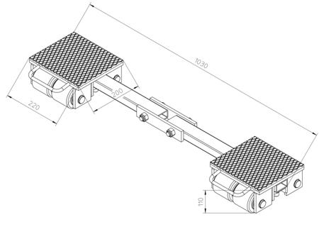 DOSTAWA GRATIS! 4993990 Podwozie transportowe (nośność: 6T)