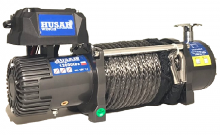DOSTAWA GRATIS! 51971671 Wyciągarka Husar z liną syntetyczną 24V (uźwig: 12000lbs / 5443 kg, długość liny: 28m)