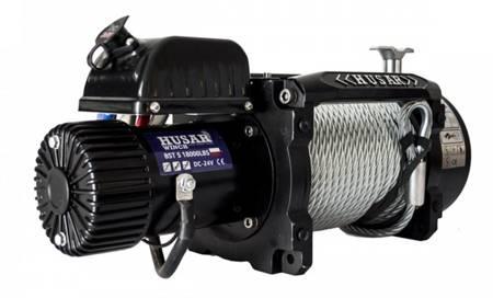 DOSTAWA GRATIS! 51971673 Wyciągarka Husar z liną stalową 24V (uźwig: 18000lbs / 8165 kg, długość liny: 25,5m)