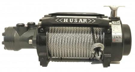 DOSTAWA GRATIS! 51971676 Wyciągarka hydrauliczna Husar z liną stalową (uźwig: 18000 lbs / 8165 kg, długość liny: 26,5m)