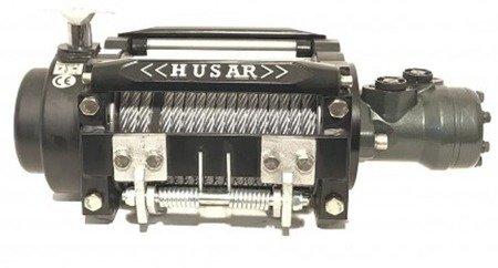 DOSTAWA GRATIS! 51973687 Wyciągarka hydrauliczna Husar z liną stalową (uźwig: 12000lbs / 5443 kg, długość liny: 25,5m)