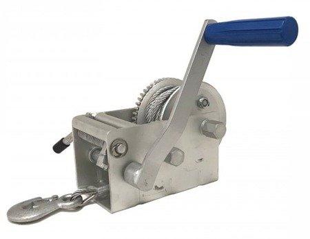 DOSTAWA GRATIS! 51973690 Wyciągarka ręczna Husar z liną stalową (udźwig: 3300lbs / 1500 kg, długość liny: 8m)