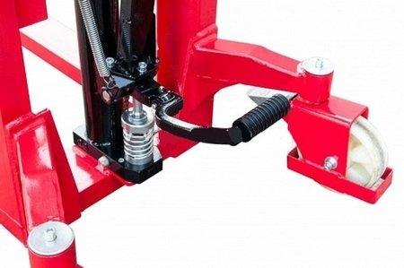 DOSTAWA GRATIS! 62666865 Wózek masztowy ręczny, niski (udźwig: 1000kg, długość wideł: 1150mm, wysokość wideł min/max: 85/1200mm)