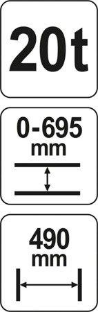 DOSTAWA GRATIS! 65669896 Prasa hydrauliczna (nacisk: 20 T)