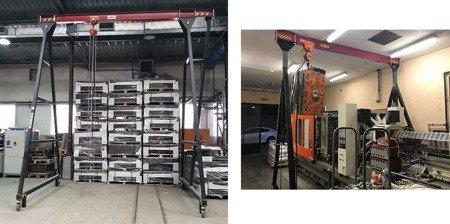 DOSTAWA GRATIS! 72574599 Wciągarka bramowa, łańcuchowa, suwnica, wciągnik (udźwig: 1000 kg, max szerokość konstrukcji w świetle: 3,1m, max wysokość do haka: 1,7m)