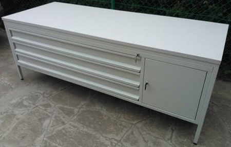 DOSTAWA GRATIS! 77156959 Stół do laboratorium, 1 szafka, 3 szuflady (wymiary: 2000x800x750 mm)