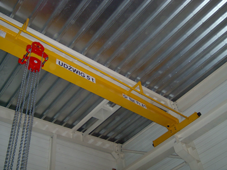 DOSTAWA GRATIS! 9588156 Wciągnik łańcuchowy przejezdny - z atestem ATEX (udźwig: 1,0 T, wysokość podnoszenia: 3m, zakres toru jeznego: 66-106 mm)