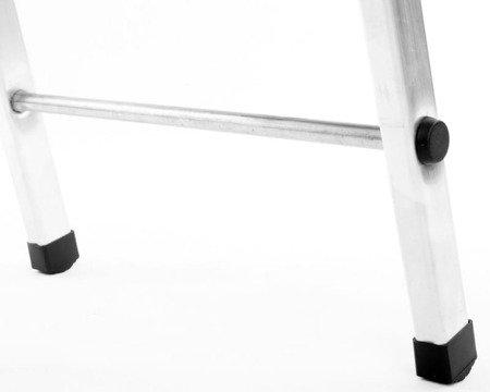 DOSTAWA GRATIS! 99674632 Drabina domowa aluminiowa jednostronna 4 stopniowa (wysokość robocza: 2,90m)