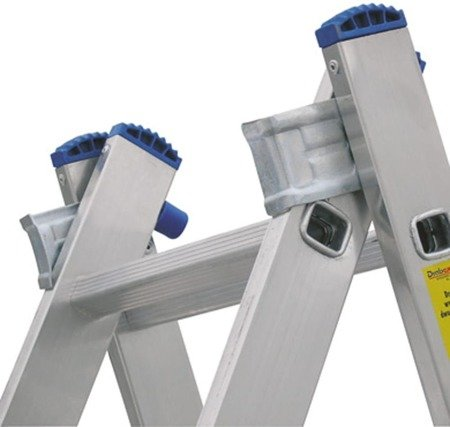 DOSTAWA GRATIS! 99674739 Drabina 2-elementowa aluminiowa Drabex 2x9 (wysokość robocza: 5,71m)
