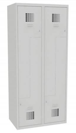 Metalowa szafa ubraniowa (wymiary: 1800x800x500 mm, kolor: popielaty) 09276671