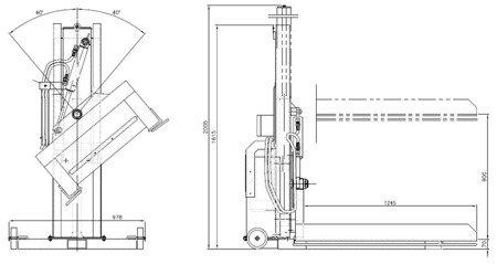Podnośnik hydrauliczny do palet (udźwig: 750 kg, długość załadunkowa: 850mm, szerokość załadunkowa: 850mm, wysokość podnoszenia: 970mm) 03073964