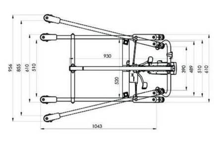 Podnośnik jezdny dla niepełnosprawnych + chusta (udźwig: 150 kg) 20577554