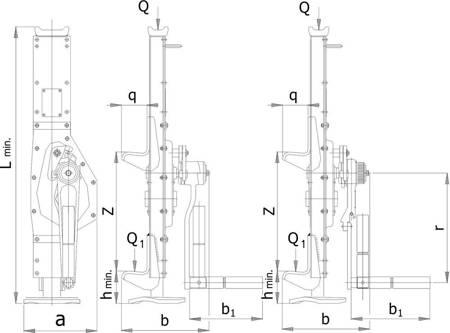 Podnośnik mechaniczny korbowy - zwiększenie komfortu pracy w wersji korby z grzechotką (udźwig: 10 T) 22077063
