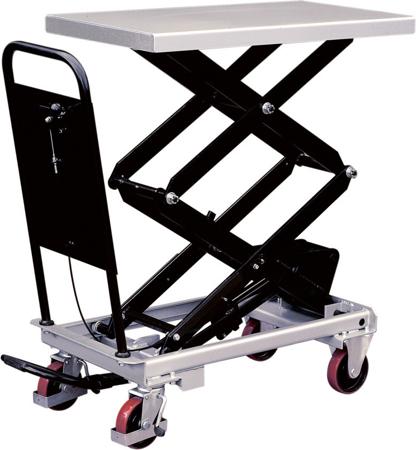 Ruchomy stół podnośny (udźwig: 300 kg, wymiary platformy: 1010x520 mm, wysokość podnoszenia min/max: 435-1585 mm) 310565