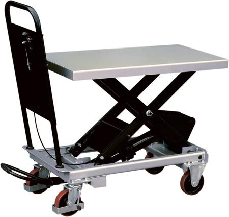 Ruchomy stół podnośny (udźwig: 750 kg, wymiary platformy: 1010x520 mm, wysokość podnoszenia min/max: 435-1000 mm) 310563
