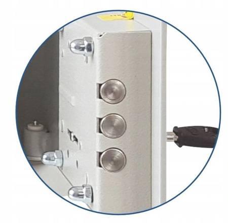 Szafer Sejf 3mm! 49 litrów 40x40cm zamek elektroniczny (wymiary: 400x400x377 mm) 15076452