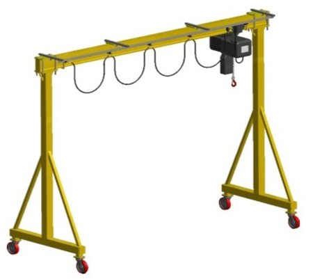 Wciągarka bramowa skręcana miproCrane DELTA 300, wciągnik łańcuchowy elektryczny zintegrowany z wózkiem elektrycznym + kaseta sterująca (udźwig: 2000 kg, wysięg: 4882 mm, wysokość podnoszenia: 4183 mm) 33977118
