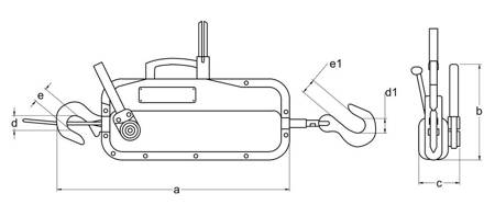 Wciągnik linowy z liną 40m (udźwig: 0,8 T) 22076815