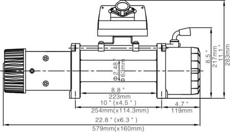 Wyciągarka Escape EVO 12000 lbs [5443 kg] EWX-S z liną syntetyczną 12V (lina: 10 mm czerwona dyneema 28m 10400kg +hak) 81877741