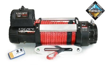 Wyciągarka Escape EVO 9500 lbs [4309 kg] IP68 z liną syntetyczną 12V (lina: 10 mm czerwona dyneema 25m 10400kg +hak) 81877768